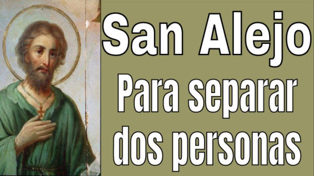 Oración a San Alejo para separar amantes