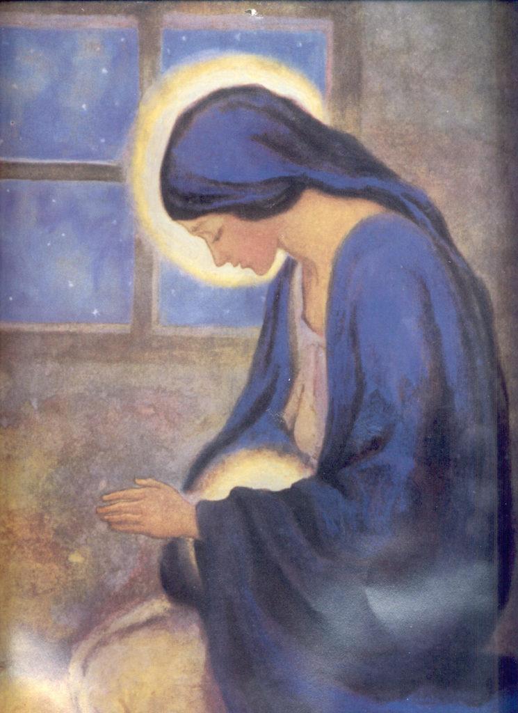 Resultado de imagen para maria llena de luz al momento del parto